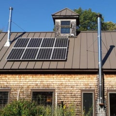Eight Panel Solar Electric System in South Berwick
