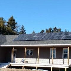 Twenty-Six Panel Solar Electric System in West Bath