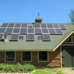 Twenty-Four Panel Solar Electric System in Sebago