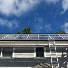 Fourteen Panel Solar Electric System in Casco