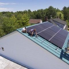 Twelve Panel Solar Electric System in Freeport