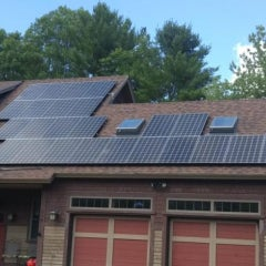 Twenty-Five Panel Solar Electric System in West Baldwin