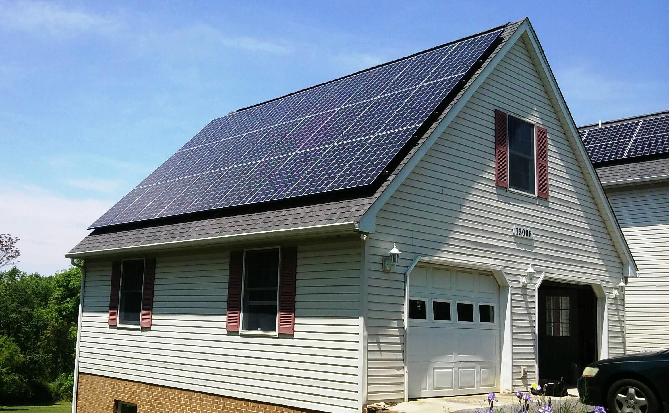 Nice garage array we just finished using the new high efficiency LG 320s!