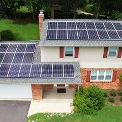 Drone photo of Boyds, Maryland installation
