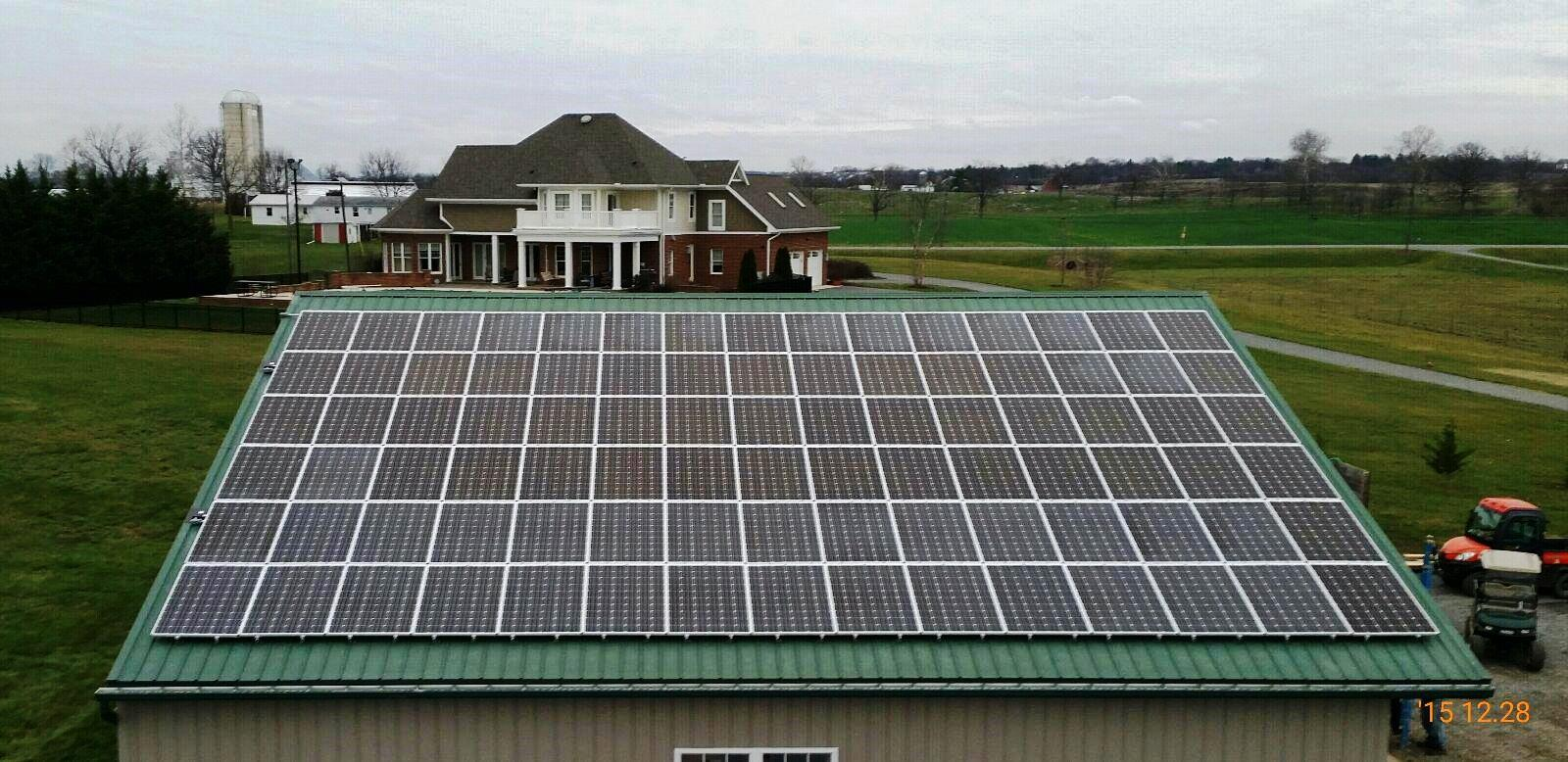 25.65 kW farm system in Hagerstown, Maryland