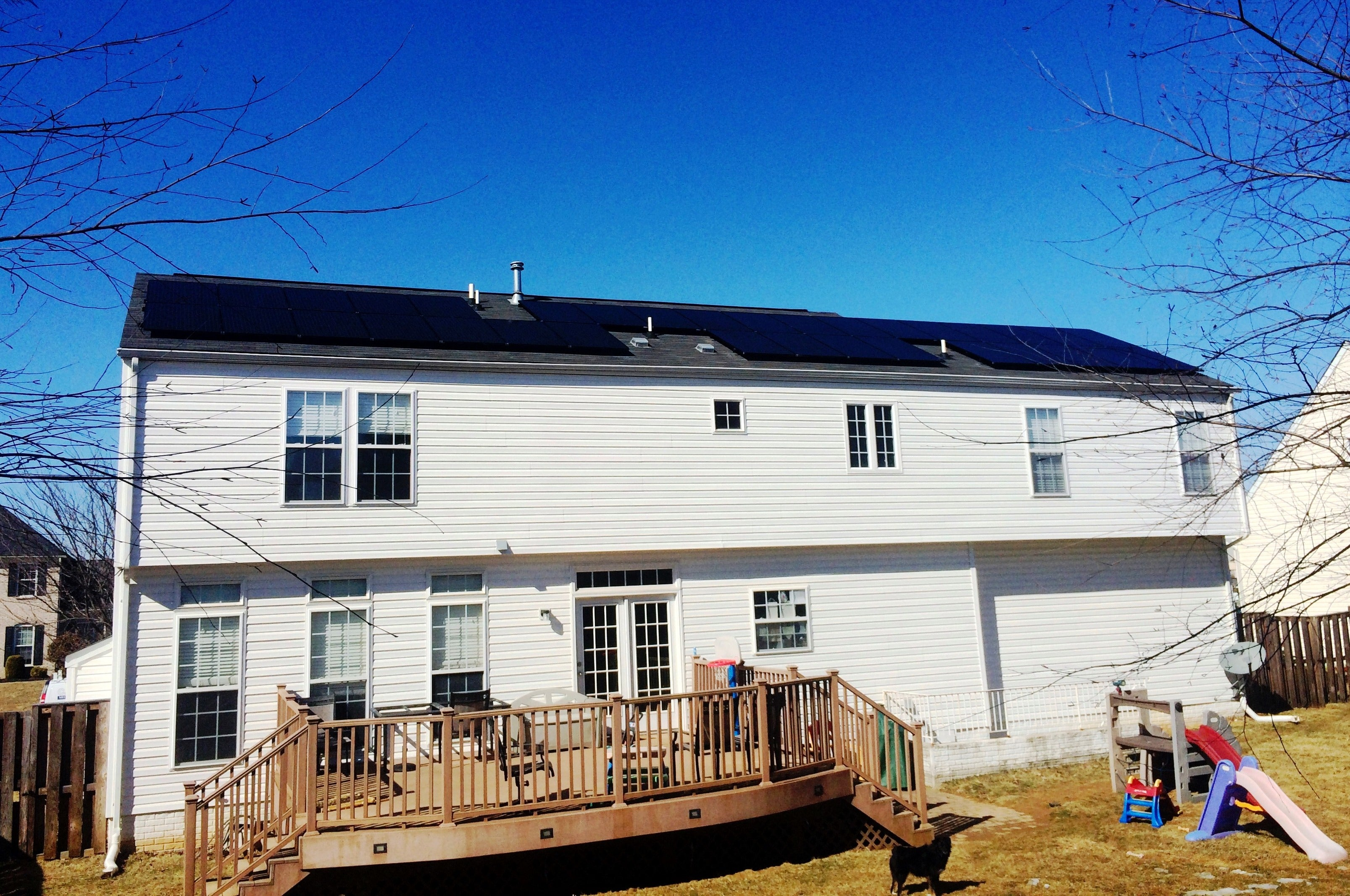 All-black, American-made panels harvesting over 12,000 kWhs annually in Walkersville, MD!