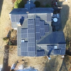 7.70kW Canadian Solar 275w Monocrystalline install in Framingham MA.