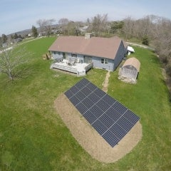 7.92kW LG330 Ground Mounted array in Westport MA