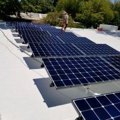 Solar install on Eichler home in Walnut Creek