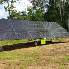 Ground mounted solar works well for many of our customers.