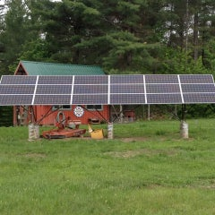 Use your solar array as lawn equipment shelter!