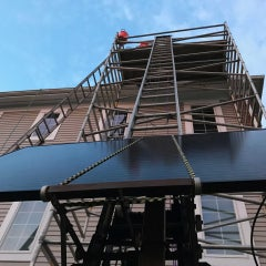 Solar stairway to heaven, courtesy of our ladderator!