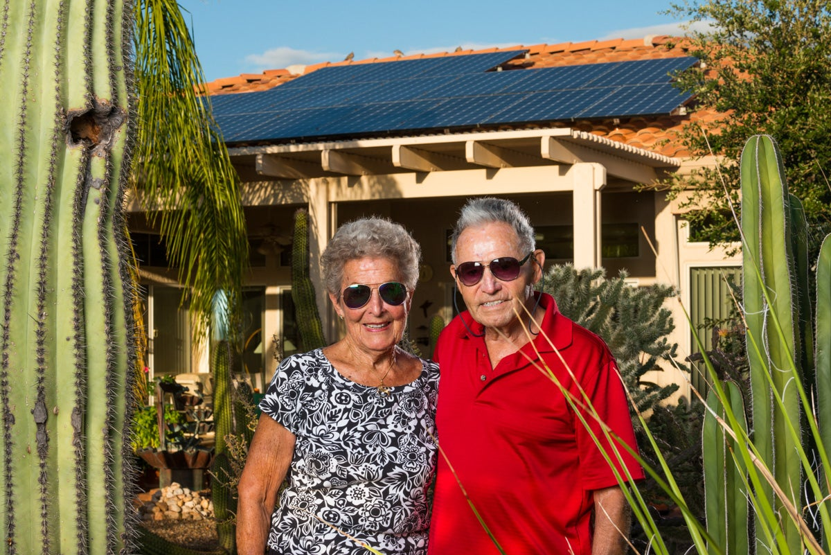 Happy solar owners Emil and Aiga!