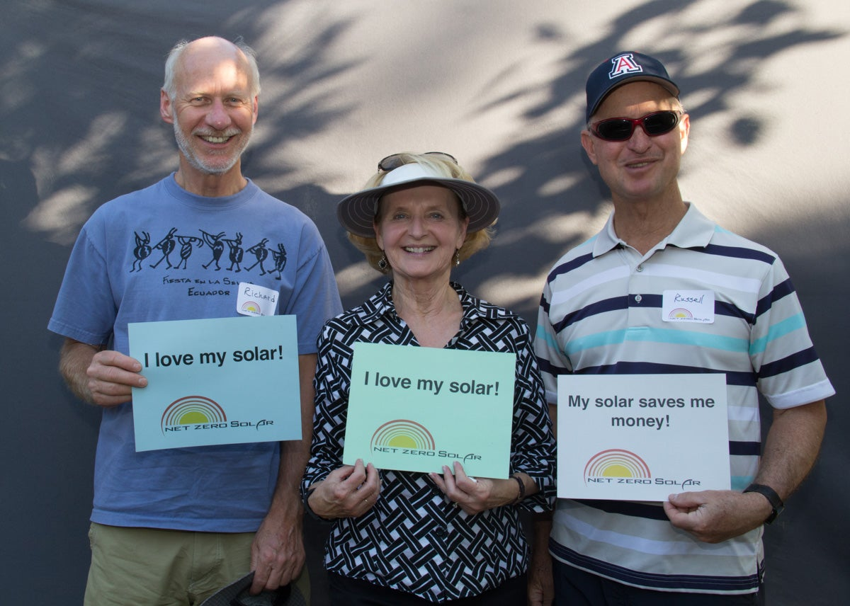 Sierra Vista solar supporters