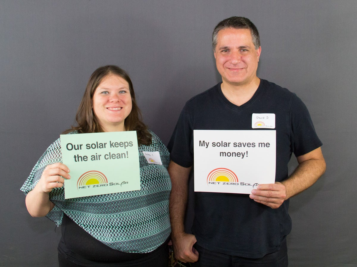 Andrea and David chose Net Zero Solar to install their solar electric system in July of 2015!