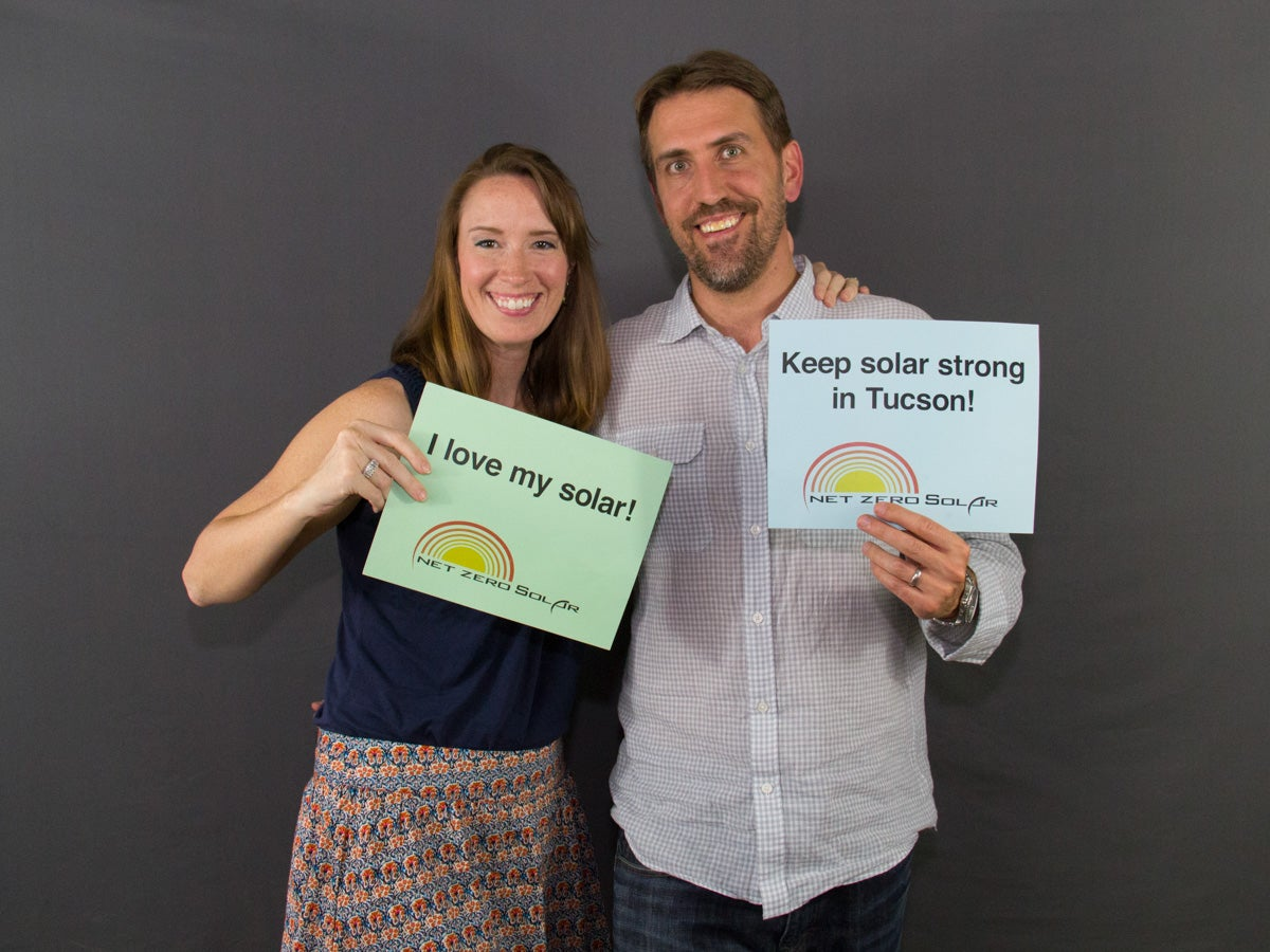 Georgia and Eric love their solar!