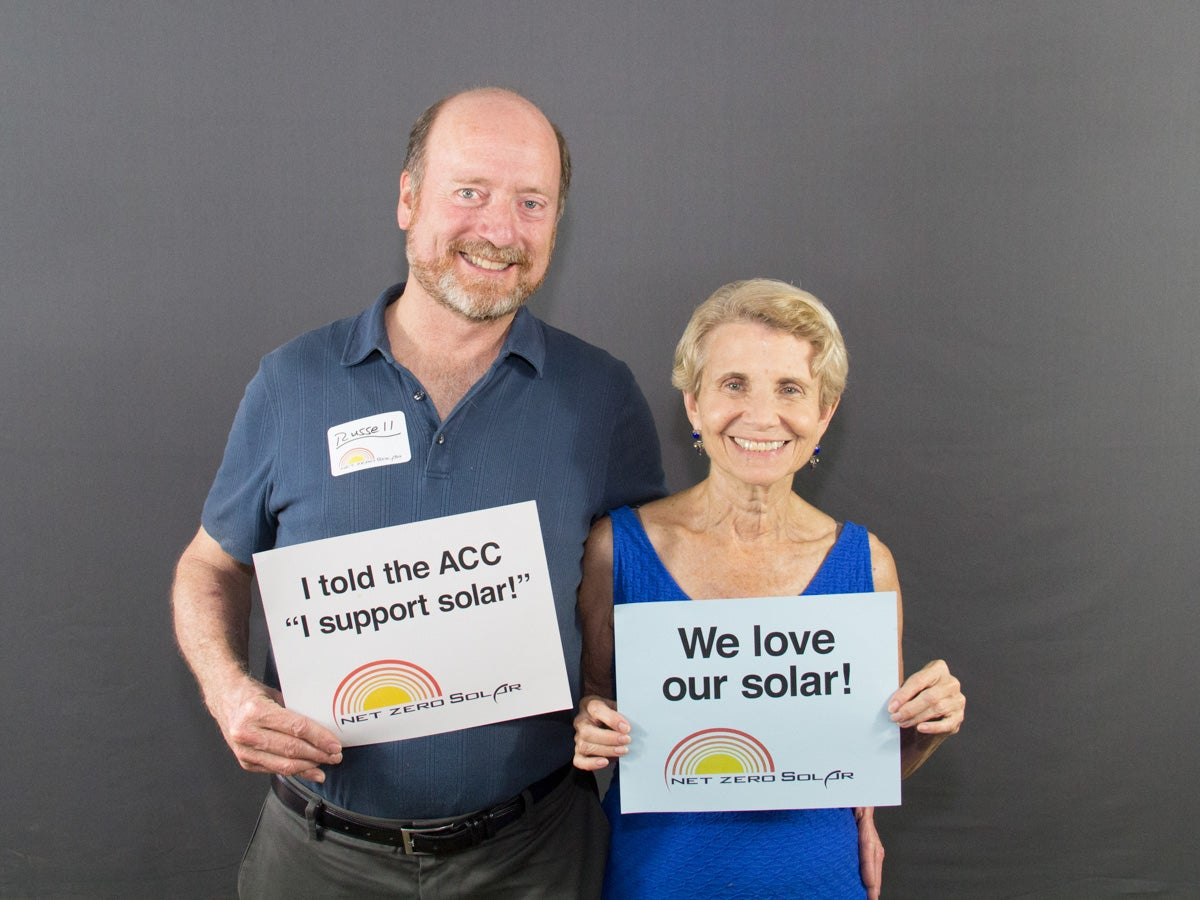 Russel and Lhasha love creating clean energy from the sun!