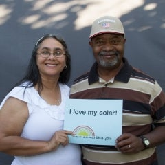 Solar homeowners Fred and Cathy!
