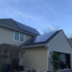 Solar on side of home and garage