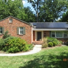 Ranch style home in VA goes solar