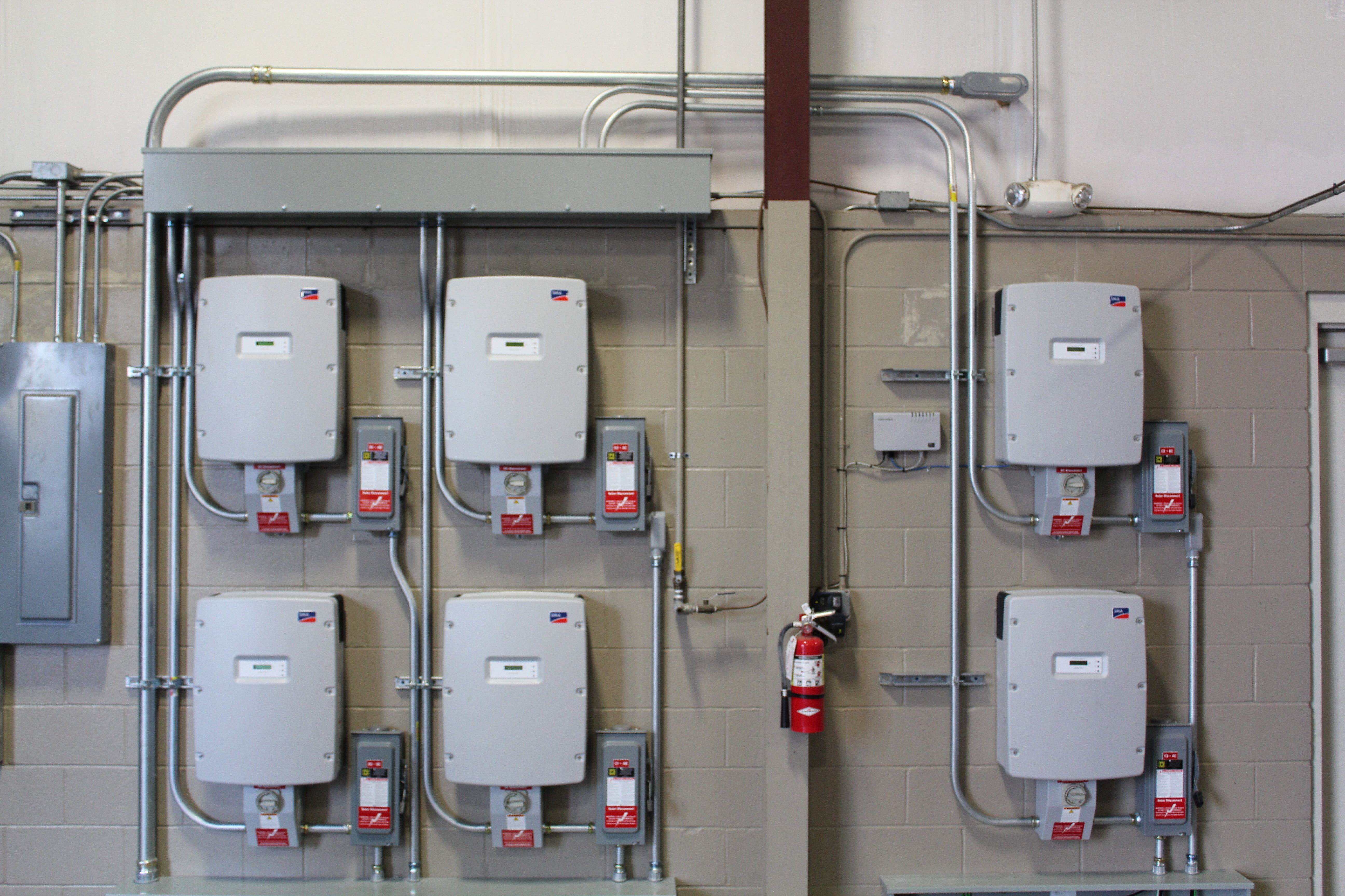 Inverters on a Three-Phase Commercial Project in Gainesville, FL