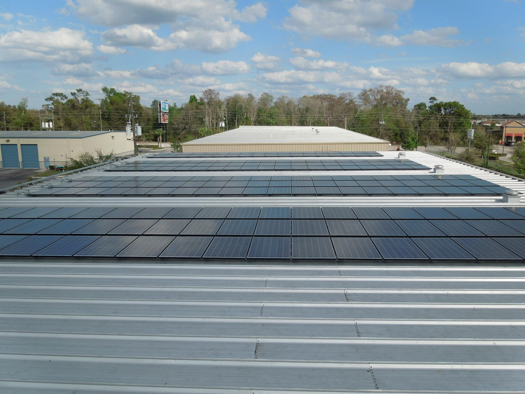 50 kW Standing Seam Mounted PV System in Orlando, FL