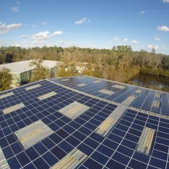 126 kW Corrugated Roof Mounted PV System in Gainesville, FL