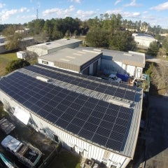 50 kW SunPower Corrugated Roof Mounted PV System