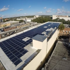 84 kW Ballasted PV System in Downtown Gainesville, FL