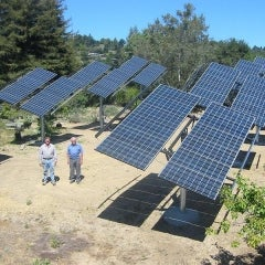 12 kW ground-mounted solar system in Corralitos, CA