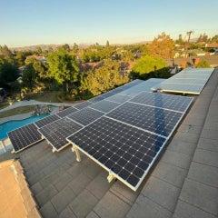Reverse mount solar panels