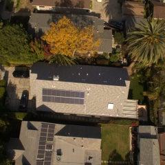 Solar installation shingle roof