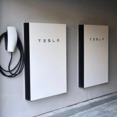 Tesla Powerwalls with Tesla EV Charger