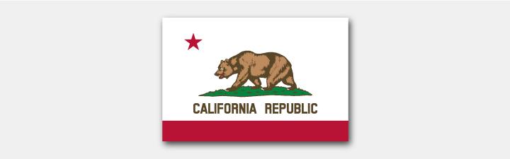 kalifornische Staatsflagge