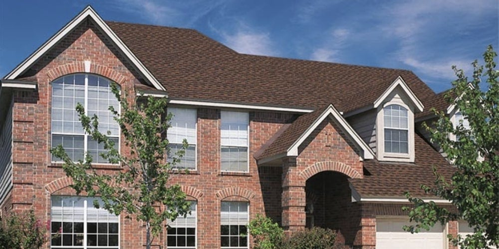 GAF shingles on a residential home