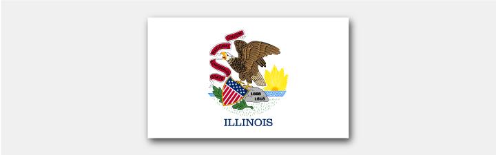 Illinois Staatsflagge