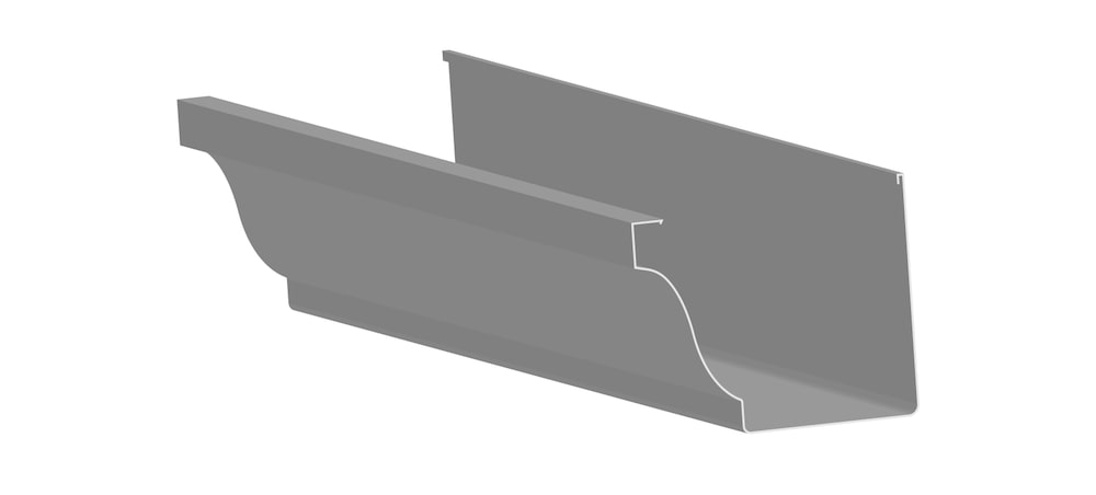 K-style gutters