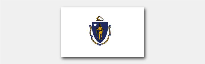 Massachusetts Staatsflagge