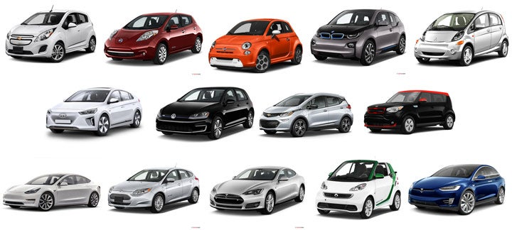 14 electric vehicles in 2017