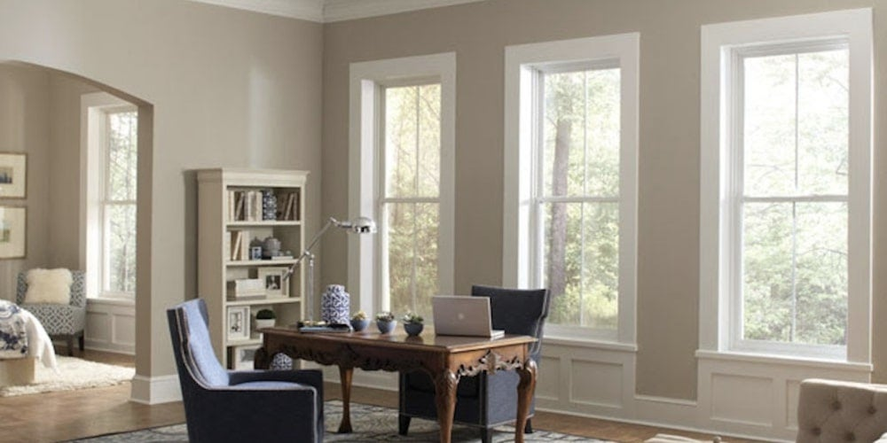 Alside 1700 Series windows installed in a study