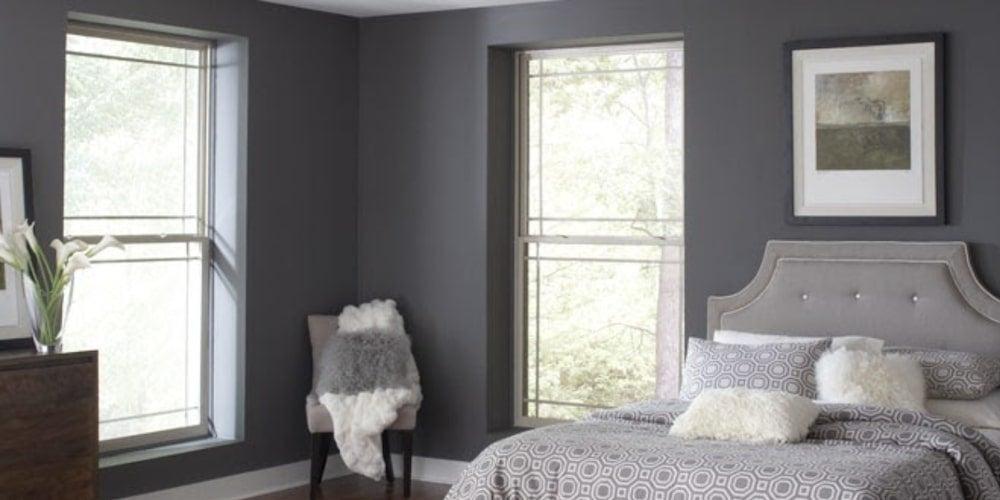 Alside 1900 Series windows installed in a bedroom