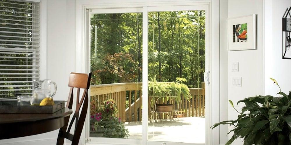 Alside 6100 sliding patio doors installed in a living room