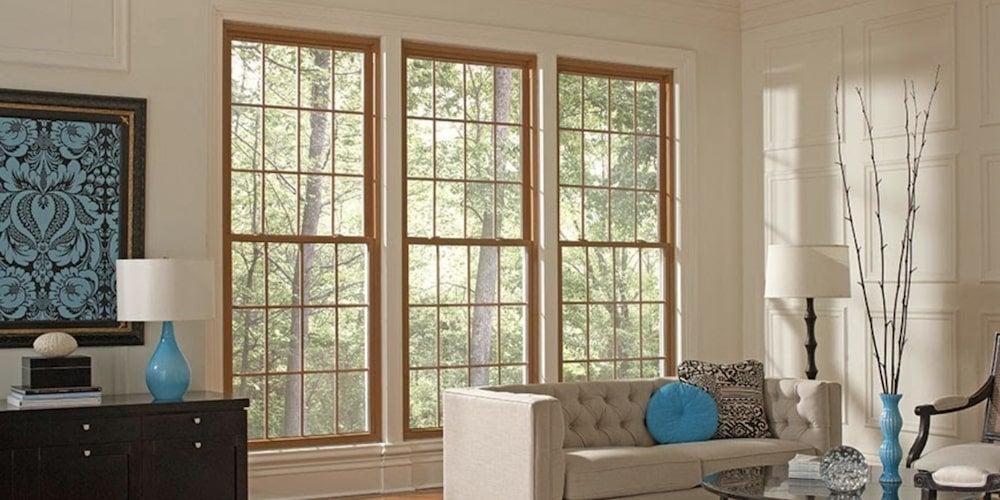 Alside Mezzo Energy-Efficient vinyl windows installed in a living room