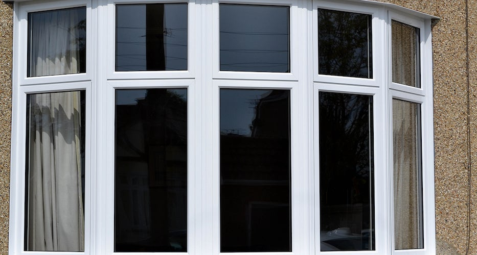 Aluminum bay window on a residential home
