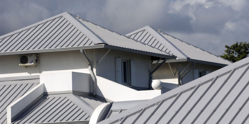 Aluminum roofing on a residential home