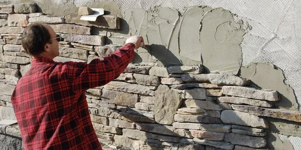 Installation of stone siding