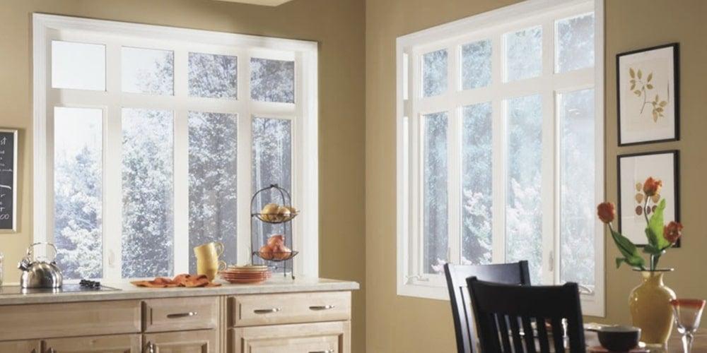 Alside vinyl windows installed in a kitchen