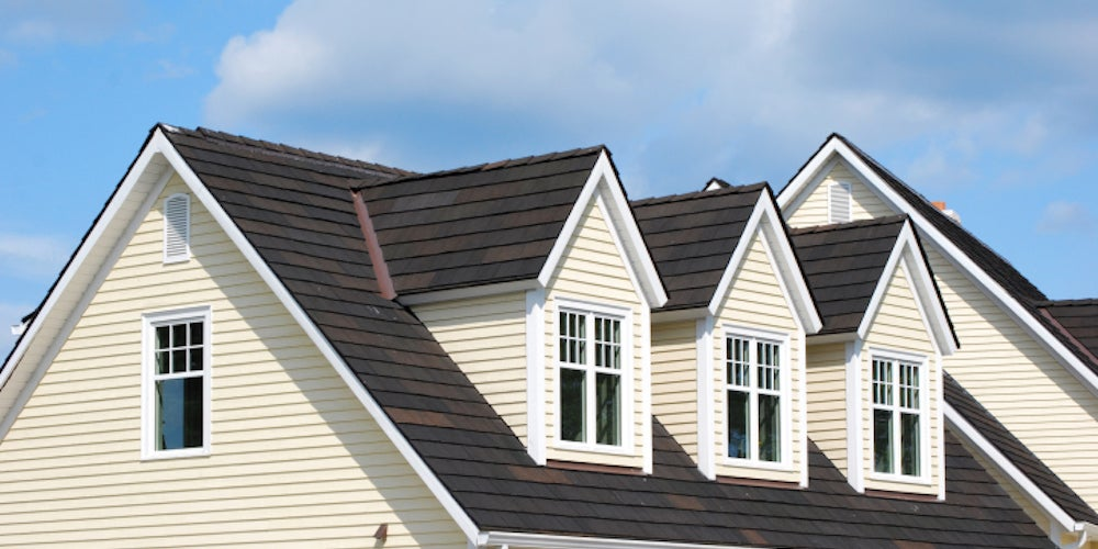 Three dormers on a residential home