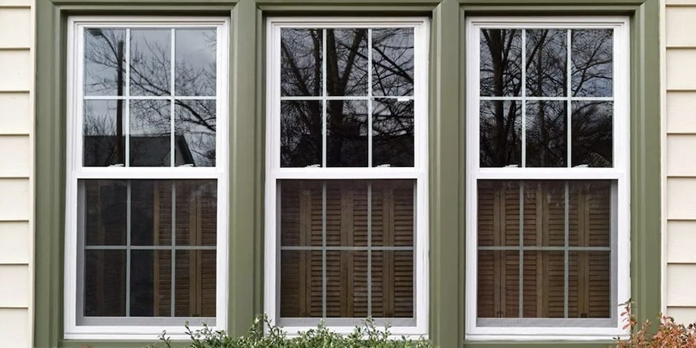 Energy-efficient windows on a residential home