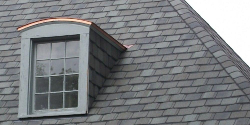 Asphalt shingles on a residential home